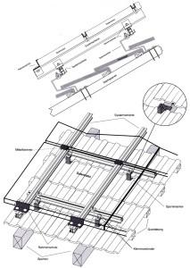 Montage Photovoltaik-Anlagen: Schrägdachsysteme: Ziegeldach, Montagepunkt: Sparrenanker – einlagig, Module quer