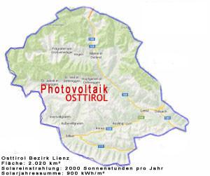 Osttirol Solareinstrahlung