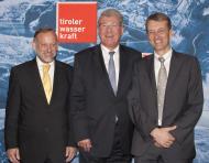 Tiwag Förderung - Vorstand DI Johann Herdina, Dr. Bruno Wallnöfer, Dr. Erich Entstrasser